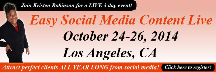 Easy Social Media Content Live
